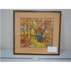 TOM THOMSON PAINTING IN FRAME (23 1/4 X 24 3/4 LONG)