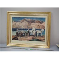 SANDTEAM BELLOWS COURTESY OF BROOKLYN MUSEUM PICTURE IN FRAME (26 1/2 X 32 1/2 IN LONG)