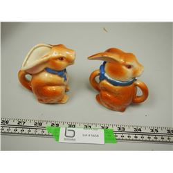 VINTAGE RABBIT CREAM & SUGAR SET MADE IN JAPAN