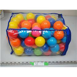 BAG OF TOY PLASTIC BALLS