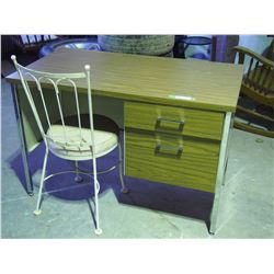 2 DRAWER DESK WITH CHAIR (45 X 24 X 30 HIGH)