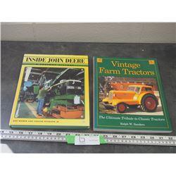 VINTAGE FORM TRACTORS, JOHN DEERE FACTORY HISTORY BOOKS / 2X THE MONEY