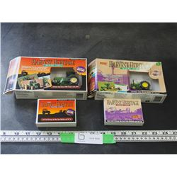 2X THE MONEY / ERTL HARVEST HERITAGE TRADING CARDS WITH TRACTORS LIKE NEW
