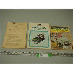 ARTIC CAT 74-77 REPAIR BOOK PLUS 2 OTHER BOOKS