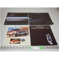 LICOLN, CONTINENTAL & FORD BROCHURES