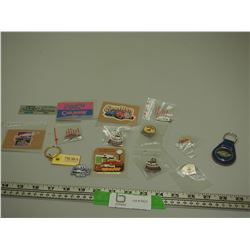 CAR RELATED PINS, MAGNETS & KEY CHAIN