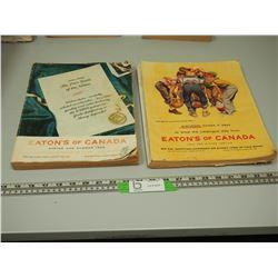 2X THE MONEY / EATONS CATALOUGES 1957-1958 (2)