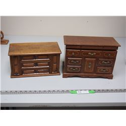 JEWELRY BOXES (WOODEN (1 IS A MUSIC BOX AS WELL)