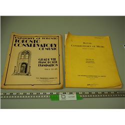 (2) CONSERVATORY OF MUSIC BOOKS