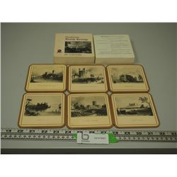 BRITISH HERITAGE COASTERS WITH ORIGNAL BOX