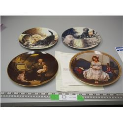 (2) NORMAN ROCKWELL & 2 ANIMAL COLLECTOR PLATES