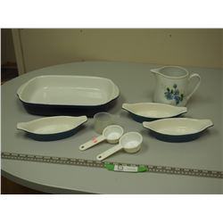 LOT OF KITCHENWARE (BAKING PAN IS COREUE)