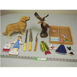 DOG ORNAMENT, CUTLERY PLUS MISC