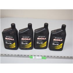 4X THE MONEY / MOTOMASTER NU GOLD LOW 30 OIL (NEW UNOPENED)