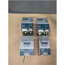 LOT OF SOLA POWER SUPPLIES (SEE PICS FOR PART NUMBERS)