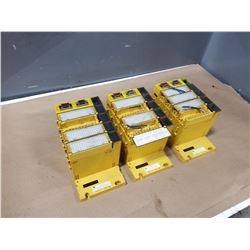 (3) FANUC A03B-0819-C002 MODULE BASE W/ CARDS *SEE PICS FOR DETAILS*