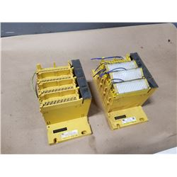(2) FANUC A03B-0819-C002 MODULE BASE W/ CARDS *SEE PICS FOR DETAILS*