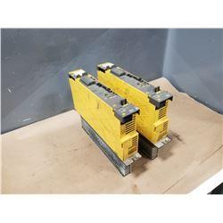 (2) FANUC A06B-6114-H105 SERVO AMP