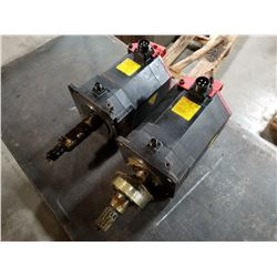 (2) FANUC A06B-0272-B605 AC SERVO MOTOR (1 OF 2 MISSING PULSECODER) *SEE PICS FOR DETAILS*