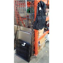 Approximately 10 ft heavy duty chain with hooks