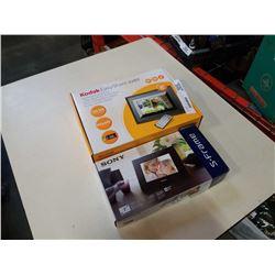Kodak easy share SV 811 digital photoframe and sony digital photo frame