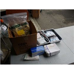 Lot of cotton tip applicators, small photo frames  sunglasses ropes & More