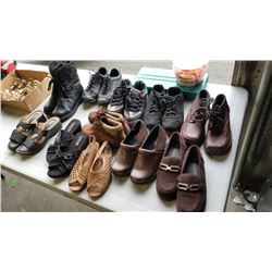 Lot of new size 5 ladies shoes, dress shoes, and runners