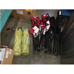 Lot of 6 folding camp chairs