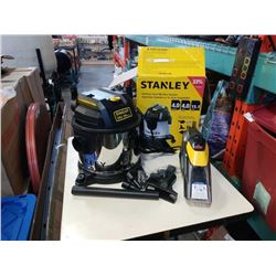 Stanley stainless vacuum no hose with Bissell pet stain eraser both are working