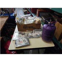 """Box of new foil balloons 32"""" numbers 0-9 with helium tank not empty but not full"""