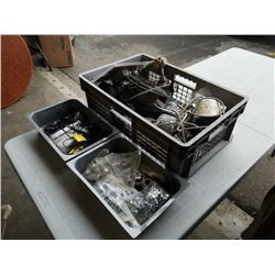 3 trays of cable, gauges electrical and more