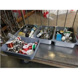 Lot of electrical, electrical wire clamps and more