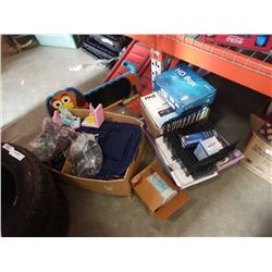 Box and tote of seat massager, PVR boxes and more