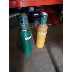 2 WELDING GAS TANKS - OXYGEN