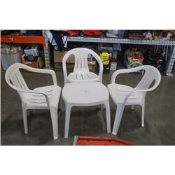 2 patio chairs and endtable