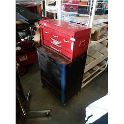 2 PIECE TOOL CHEST WITH CONTENTS - TOOLS, SOCKETS, ETC