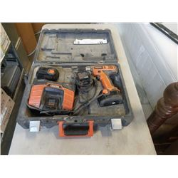 Ridgid 12.0 volt R82001 with 3 batteries and charger in case