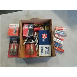 TRAY OF SPARK PLUGS