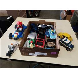 TRAY OF DIE CAST AND TOY CARS