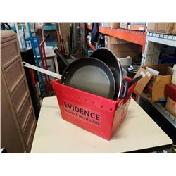 BOX OF WOKS, PANS