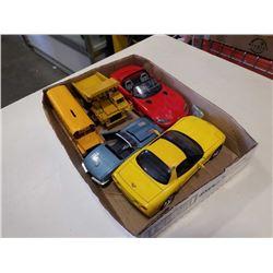 5 die cast vehicles