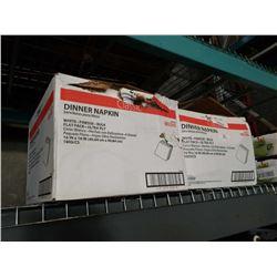 2 BOXES OF WHITE DINNER NAPKINS 16X 16 INCH