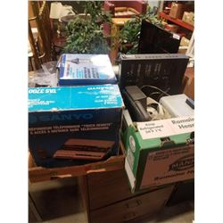 2 Boxes of electronics and porch light