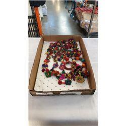 Tray of new coconut jewelry