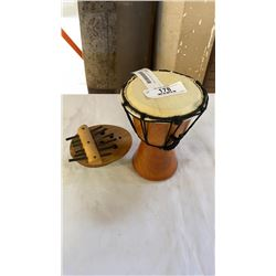SMALL DRUM AND COCONUT KALIMBA