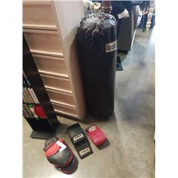 SELECT PUNCHING BAG BODY BAG WITH TRAINING GLOVES