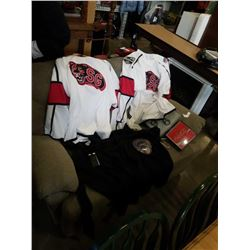 NEW SIZE LARGE HOODIE, 2 JERSEYS, TSHIRT