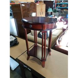 BOMBAY CO 1 DRAWER OVAL SIDE TABLE
