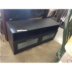 IKEA BLACK 2 DRAWER ENTERTAINMENT STAND
