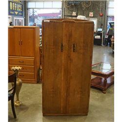 Vintage walnut wardrobe